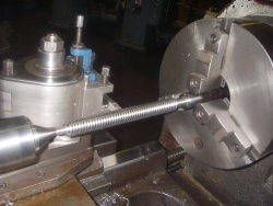 machining valve stem